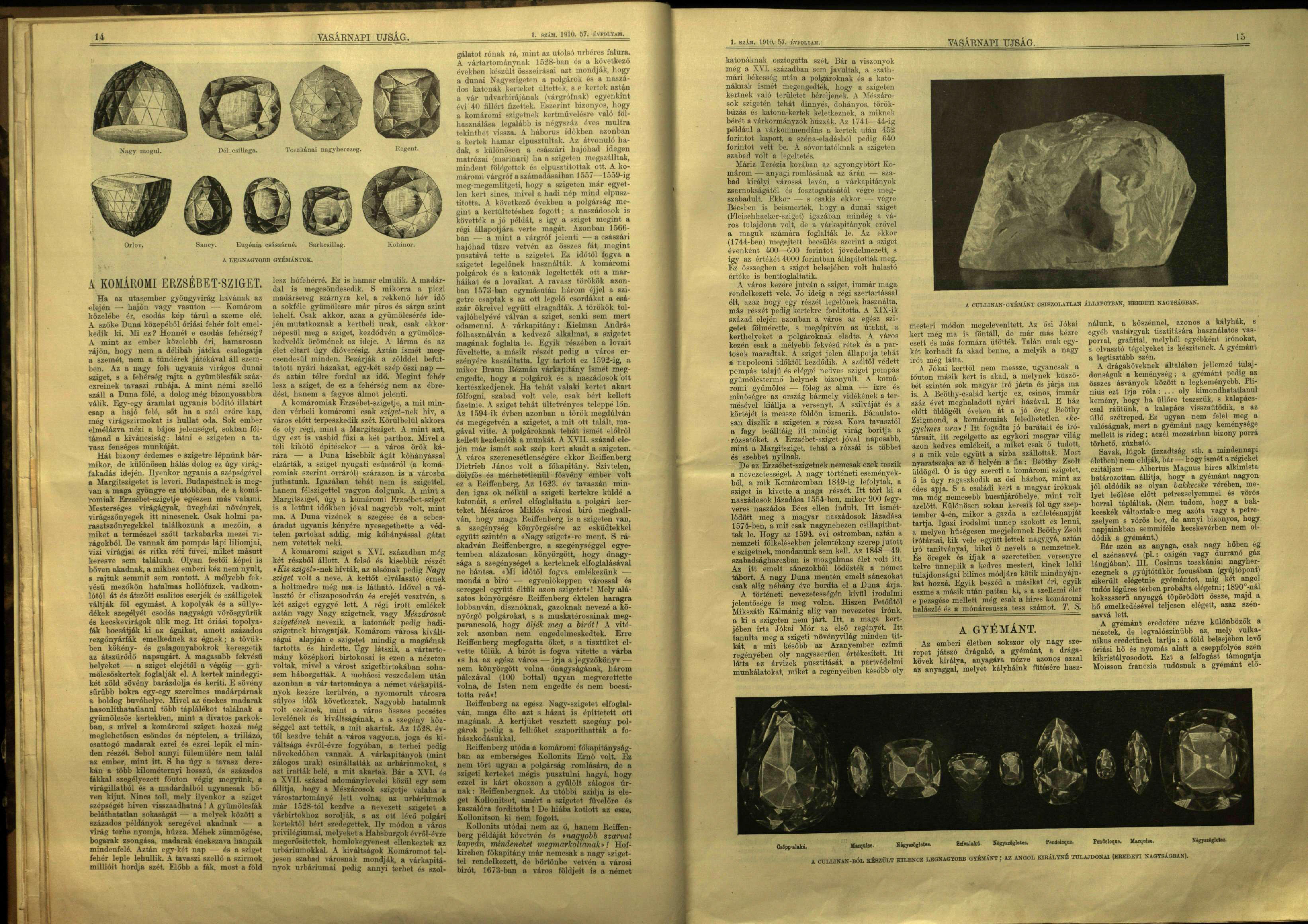 Vasárnapi Ujság 57. évf. 1. sz. (1910. január 2., forrás epa.hu)